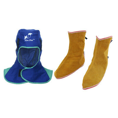 Welding Helmet Head Hood Protective and Shoes Spats Feet Cover for Welders