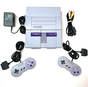 Super-Nintendo-SNES-System-Console-With-2-OEM-Controllers-Authentic-amp-Clean
