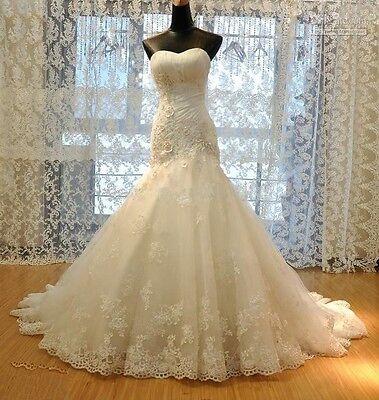 New Mermaid white/ivory Wedding dress Bridal custom size 6-8-10-12-14-16-18-20
