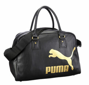 Puma Originals Leather Look Gym Holdall Sports Weekend