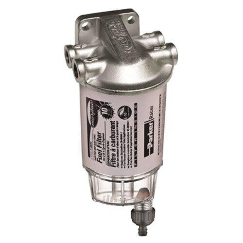 Benzin Benzin Benzin / Wasser Scheidetrichter Marine Filter Kit Edelstahl Stahl Kopf 10 Micron 892a2f