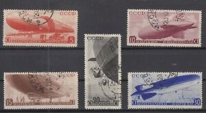 BE5757-RUSSIA-ZEPPELIN-MI-483-487-COMPLETE-USED-CV-130