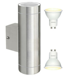 Modern-Stainless-Steel-LED-Double-Up-Down-Outdoor-Wall-Light-IP65-Energy-Saving