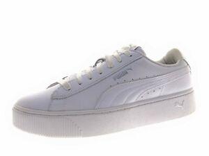 Puma Damen Schuhe Sneaker Laufschuhe Freizeitschuhe Gr 39 Leder Weiß