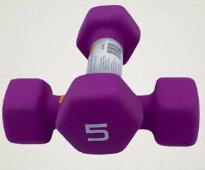 /& 2lb Pairs of Dumbbells Weight Set CAP Neoprene Hex⚡️Free Shipping⚡️ 10lb 5lb