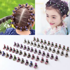 12-PCS-Baby-Girls-Sweet-Rhinestone-Crystal-Flower-Mini-Hair-Claws-Clips-Clamps