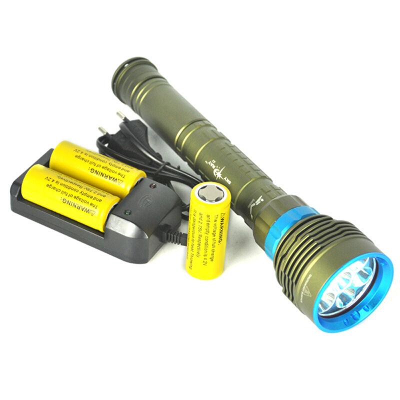 Underwater 200m 7x XM-L2 Scuba LED 3X18650/26650 70000LM Scuba XM-L2 Diving Flashlight Torch 7059c5