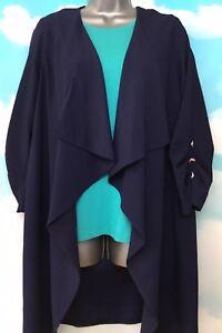 Dorothy a cascata lunghe Perkins con blu giacca 12 Nuova navy maniche B6wqg5pn1