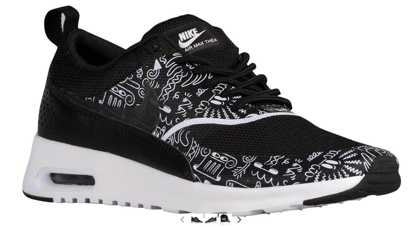 NEW Femme Nike Air Max Thea Chaussures Taille: 5.5 Color: Noir