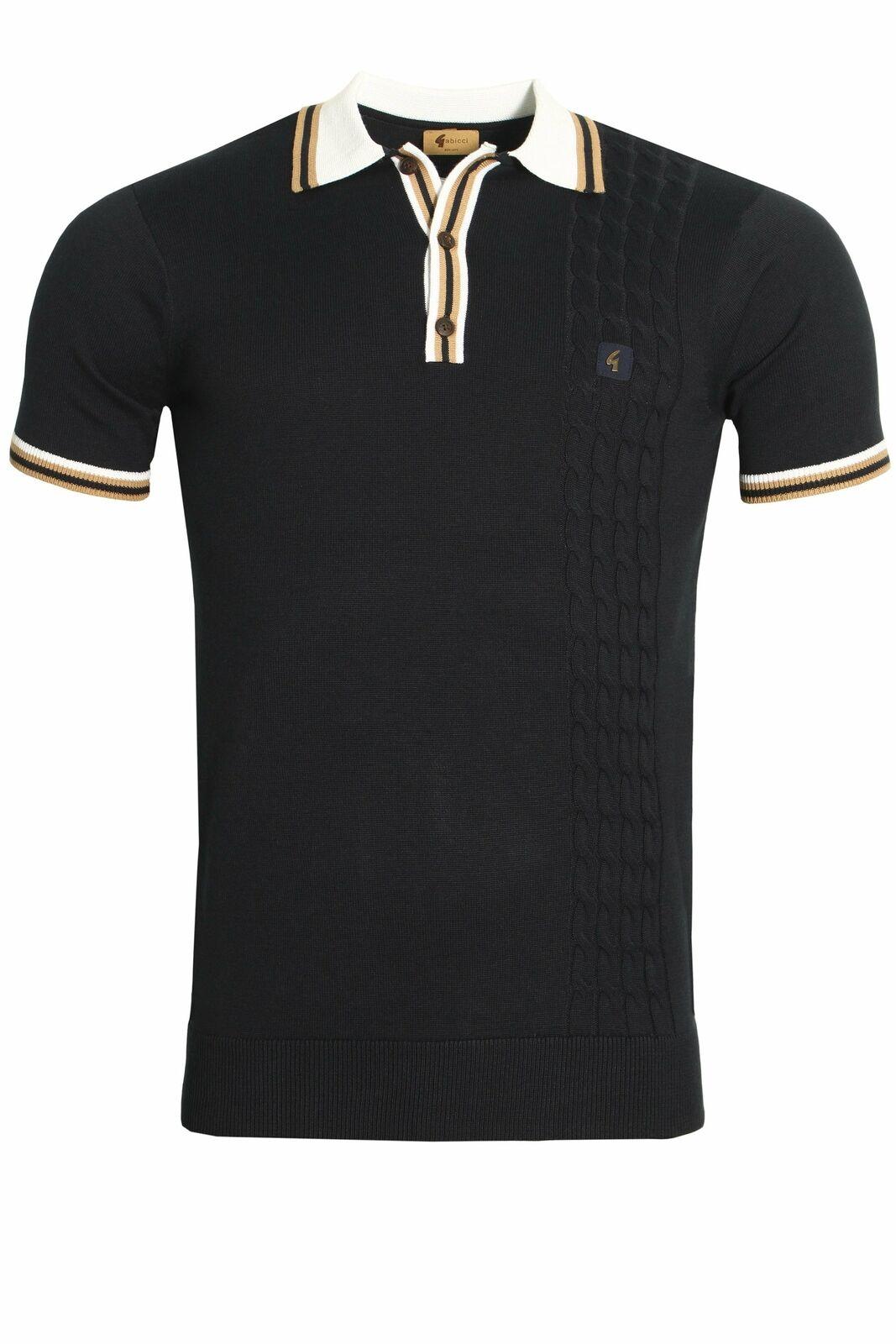 Mens Polo Shirt GABICCI Croxted 3 Button Mens Polo Shirt   Navy
