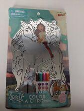 DreamWorks Spirit Riding Free Color A Chrome Art Set Markers //Rhinestones NEW