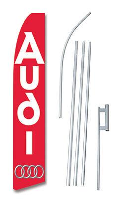 Complete 15/' Car Audio Sale Kit Swooper Feather Flutter Banner Sign Flag