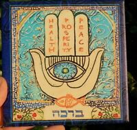 Hamsa Hand Home Wall Decor Good Luck Hebrew Blessing Evil Eye Chamsa God Judaica