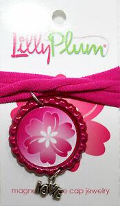 New-Lilly-Plum-Pink-12-Choker-Necklace-with-a-Pink-White-pendant