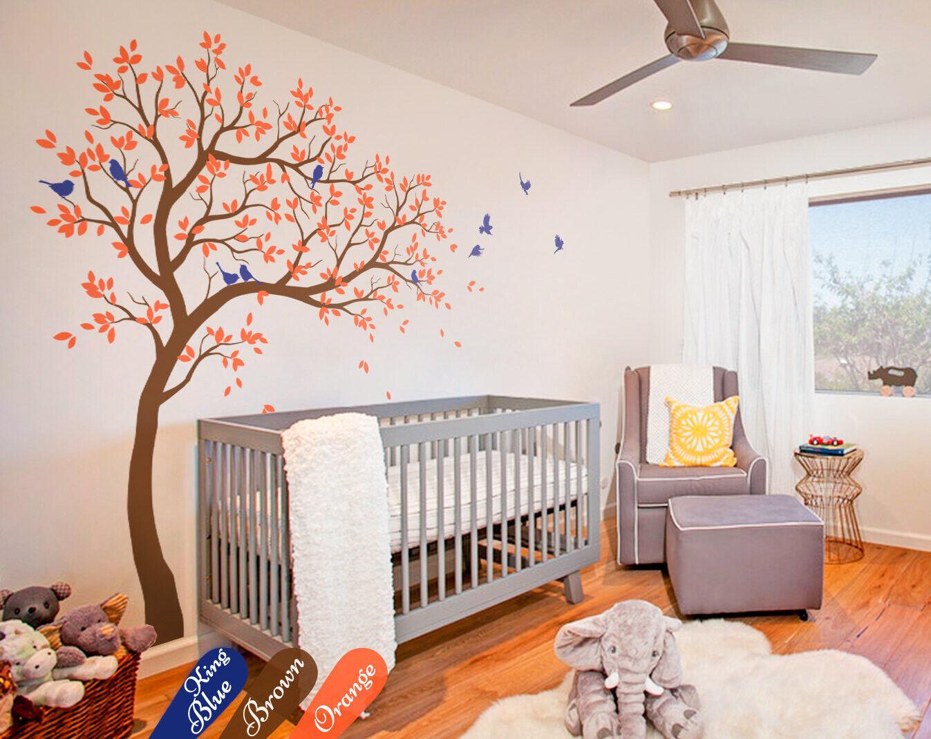 Nursery tree wall decal Kids Room tree decoration Baby-room wall sticker KW032