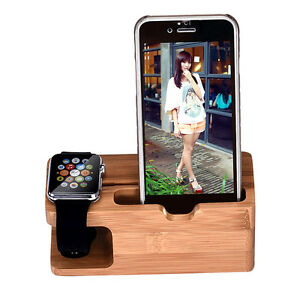 Bamboo-Wood-Charging-Station-Charger-Dock-Stand-Holder-For-Apple-Watch-Phone-Mbn