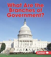WHAT ARE THE BRANCHES OF GOVERNMENT?