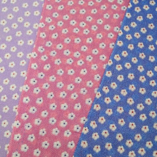 Polycotton Fabric Ditsy Daisy Flowers Floral Daisies