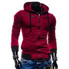 HOMMES FIN décontracté fermeture éclair Sweat à capuche haut à tricot VESTE PULL