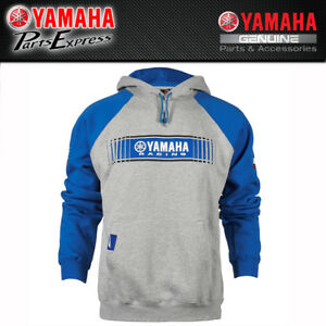 Adroit New Large Yamaha Tracks Speed Block Hooded Sweatshirt Grey Blue Crp-16ftt-bl-lg Complete In Specifications Clothing, Shoes & Accessories