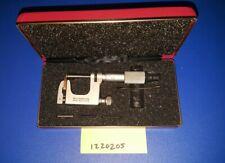 Starrett Anvil Micrometer 220 0 1 Multi Anvil Disc Case Nice
