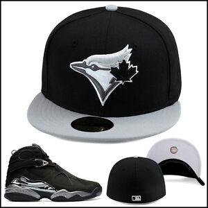 New-Era-Toronto-Blu-Jays-Berretto-su-Misura-Cappello-Nero-Grigio-per-Jordan