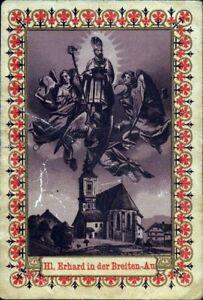 Santo-Erhard-en-el-Breiten-Au-PLZ-8614-Austria-Antiguo-Cuadro-Santos-O-5995
