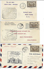 Canada FFC Lot of 3, 1929 - Saint John, Moncton - First Maritime Air Pageant*