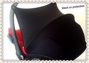 black-Maxi-Cosi-Cabriofix-Sun-Canopy-Hood-Shade-UV-PROTECTION