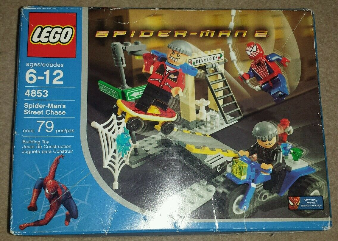 LEGO Spiderman 4853 Spiderman Street Chase NEW & SEALED RARE Worn box.
