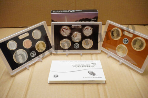 2016 S US Mint SILVER PROOF Set 13 Coins Kennedy ATB $1 Dime Penny w// BOX COA