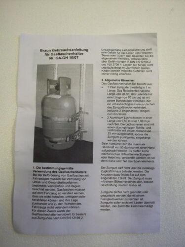 Braun Campingbedarf Gasflaschesicherungs-Set 73103-1