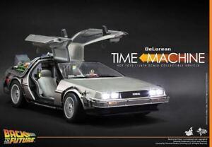 HOT-TOYS-1-6-DeLorean-Back-To-The-Future-BTTF-Time-Machine-MMS260-Big-Car-Model
