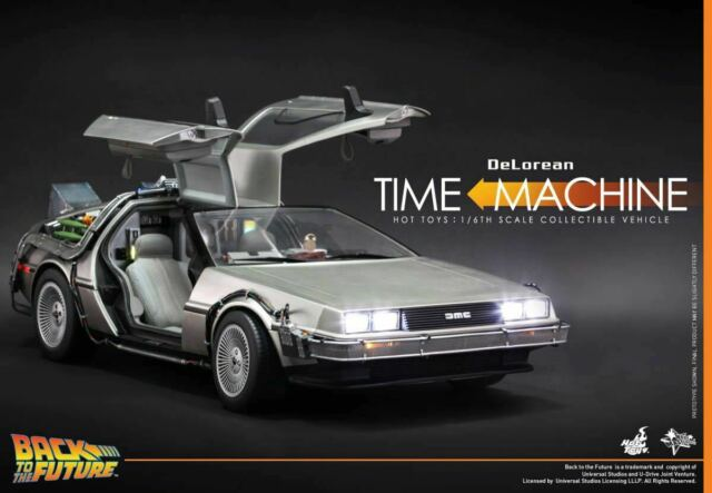 HOT TOYS 1/6 DeLorean Back To The Future BTTF Time Machine MMS260 Big Car Model