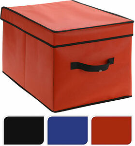 Image Is Loading Fabric Drawer Storage Boxes With Lid Collapsible Toy