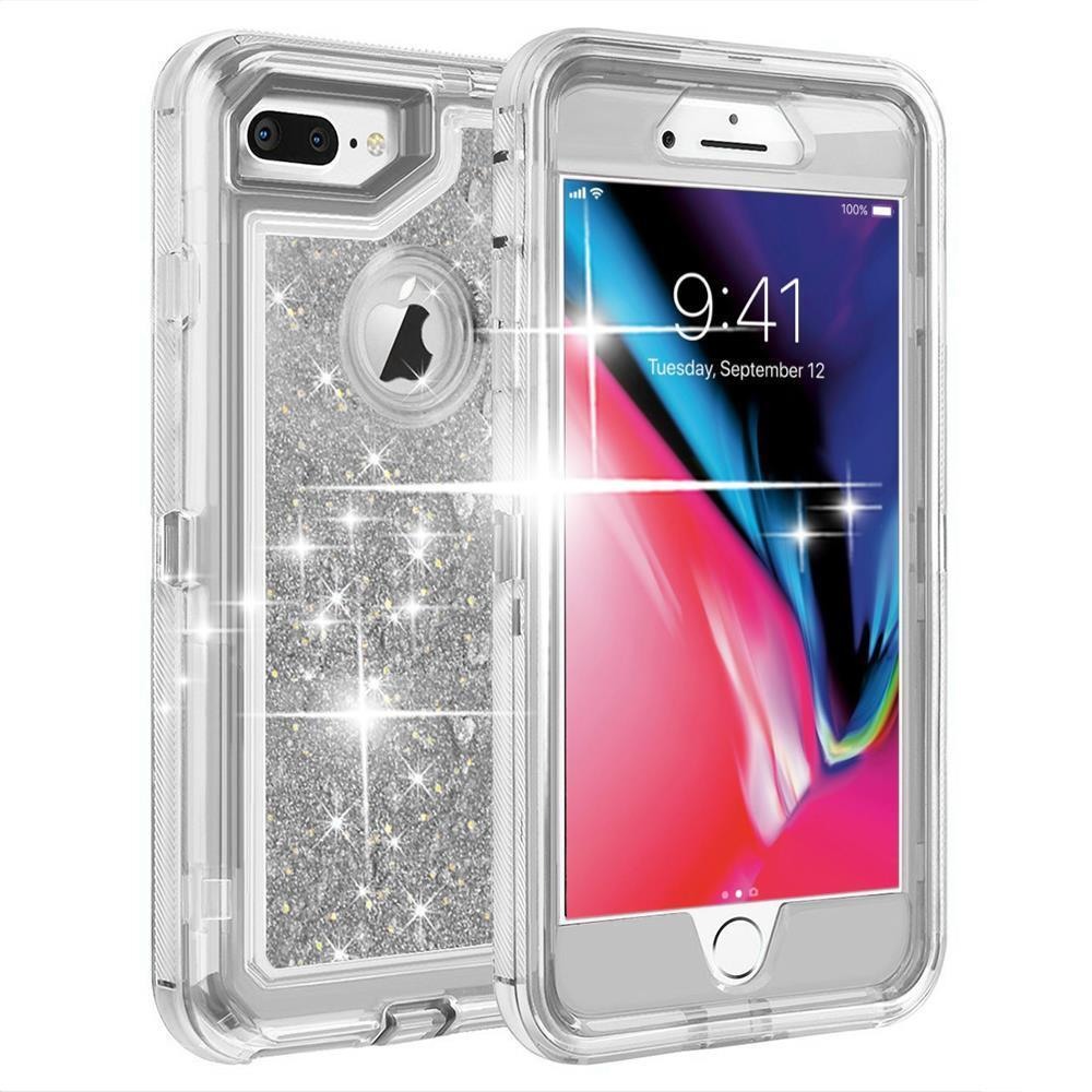 Shockproof Defender Glitter Quicksand Glitter Liquid Case For iPhone 6/7/8/P/X
