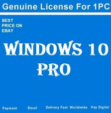 MICROSOFT WINDOWS 10 PRO 32/64 BIT PRODUCT LICENSE KEY +DOWNLOAD LINK(free) -W10