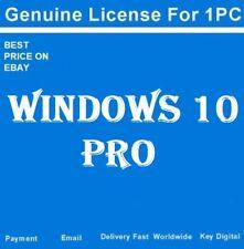MICROSOFT WINDOWS 10 PRO 32/64 BIT PRODUCT LICENSE KEY +DOWNLOAD LINK(free) -W10