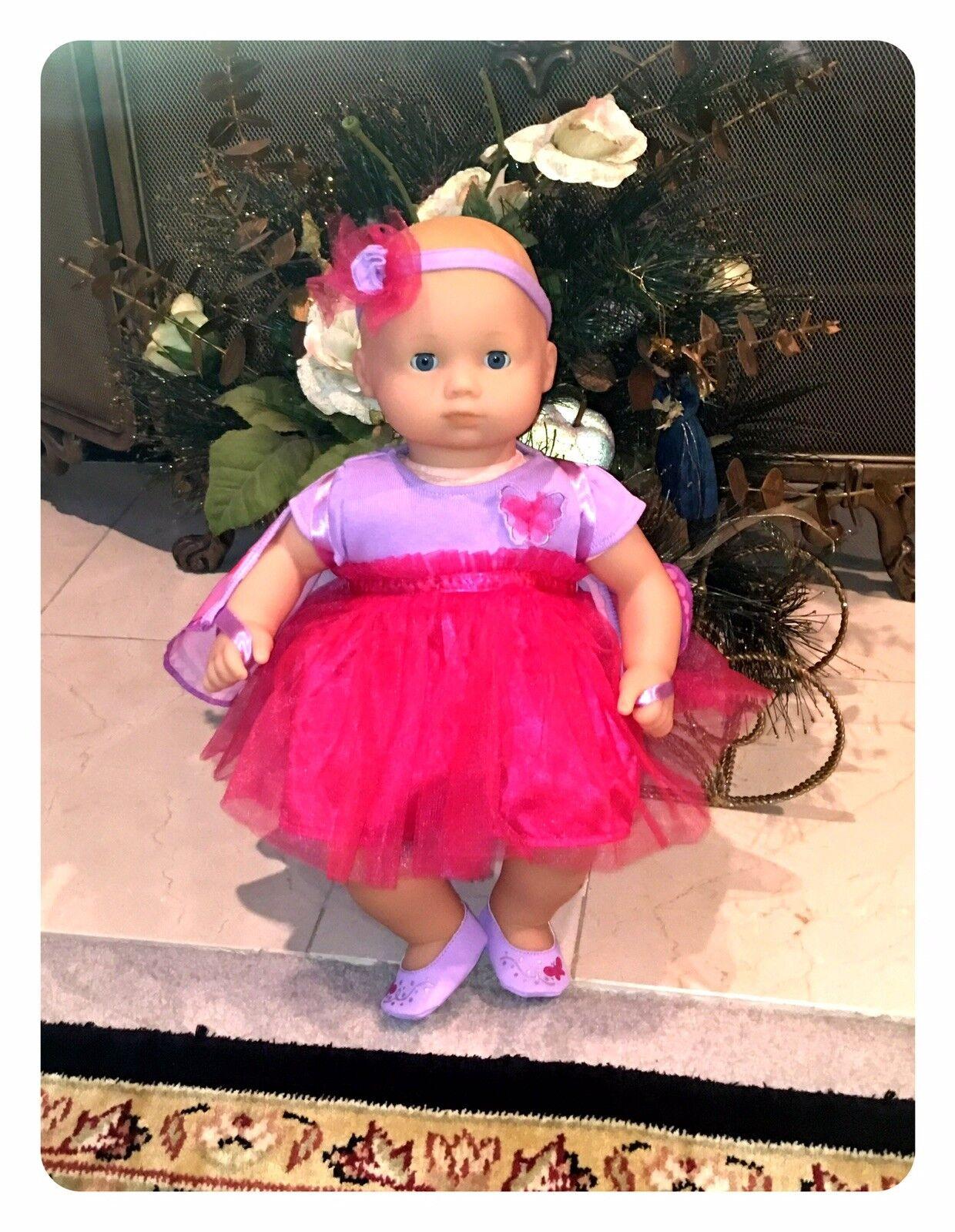 Bitty Baby Butterfly  Doll New Fair Blond bluee New