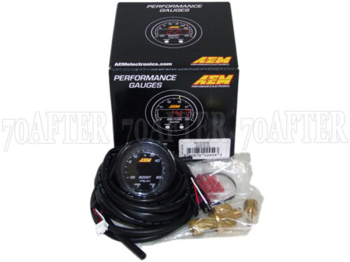 AEM 30-0308 X-Series Electronic 60PSI//4BAR Turbo Boost Pressure Gauge Meter