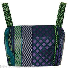 e7091f355 item 6 Topshop Green Blue Aztec Jacquard Bralet 16 44 Cropped/Crop Top Zip  Back New -Topshop Green Blue Aztec Jacquard Bralet 16 44 Cropped/Crop Top  Zip ...