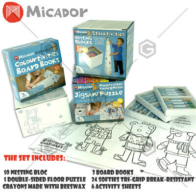 Books Activity Value Pack Art Impartial Micador Mega Learning Colourtivities Puzzle