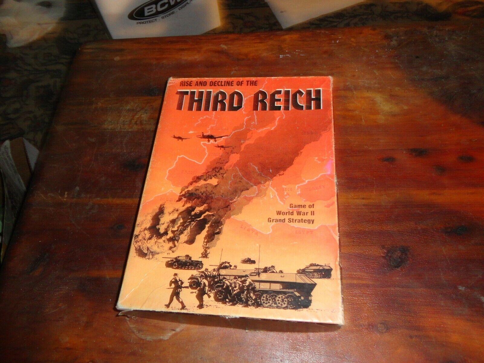 Vintage subida y decadencia del Tercer Reich Librero juego por Avalon Hill 1974