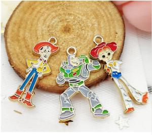 20pcs Toy story Enamel Metal Charms Pendants DIY Jewelry Making