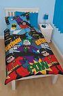 Lego Batman Dynamic Single Duvet Polycotton Bed Set 100 Micro Fibre Washable