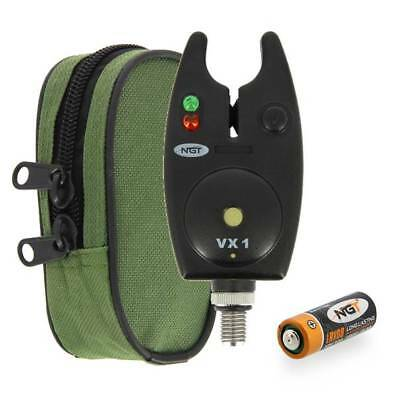 Battery NGT Waterproof Fishing VX-1 Bite Alarm with Adjustable Volume Control