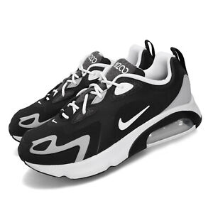 nike air max 200 black white grey men running casual shoes