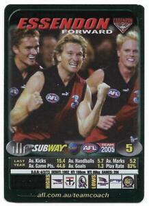 2005-Teamcoach-Subway-Captain-Wildcard-C-05-James-HIRD-Essendon