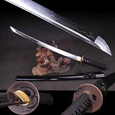 Hand Forged Japan Samurai Sword Katana Wakizashi Clay Tempered T10 Steel Sharp#9