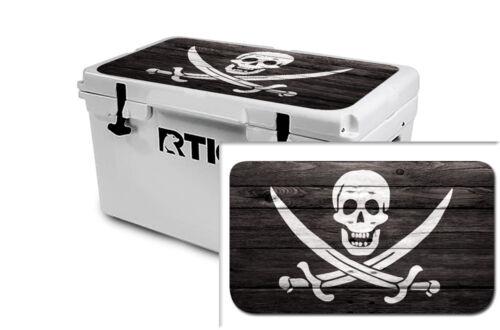 USATuff Wrap Sticker Decal Lid Kit fits Custom RTIC 65qt Cooler Pirate Flag WD